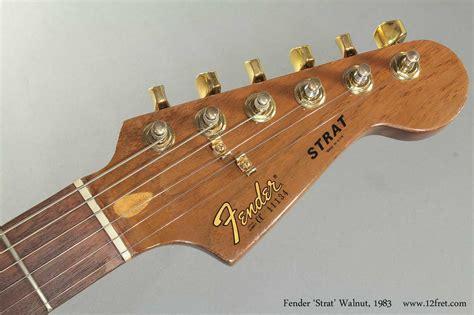 Fenstermaße by 1983 Fender Strat Walnut Sold Www 12fret
