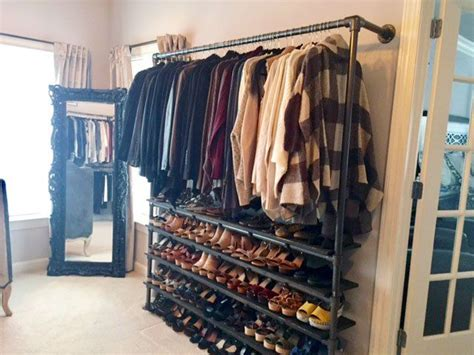 Closet Rack System 337 Best Pipe Clothing Racks Images On