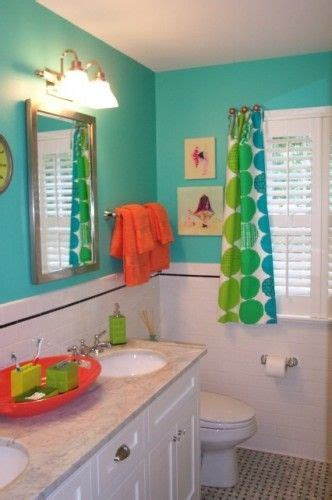 orange and turquoise bathroom great bright turquoise kids bathroom with orange accents