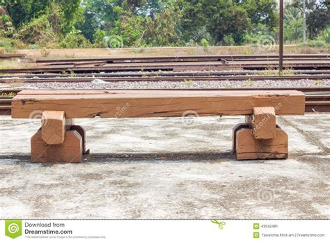 railroad tie bench bench made of old railroad ties stock photo image 43042481