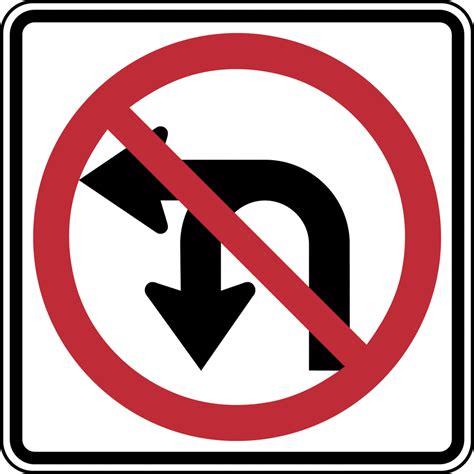 no left no u turn no left turn color clipart etc