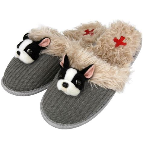 fuzzy nation slippers fuzzy nation boston terrier felt slippers and other