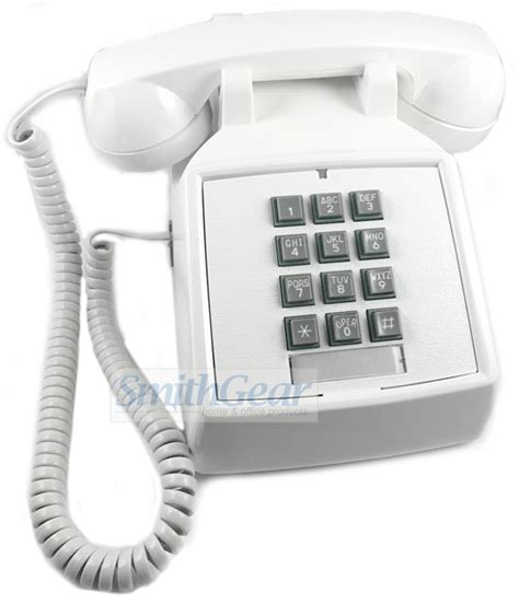 Cortelco Desk Phone by Cortelco 2500 Desk Phone White