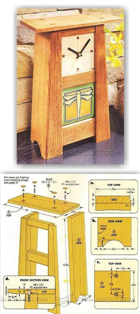 craftsman clock woodworking plans  projects