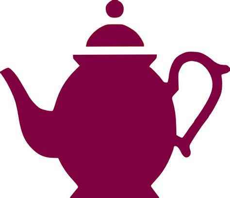 teapot pouring magenta clip art  clkercom vector clip