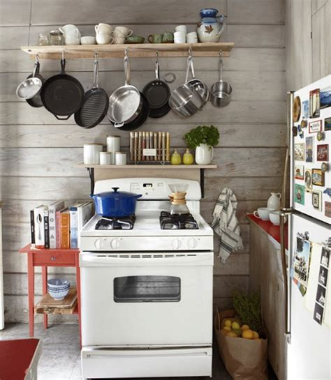 Pot Rack For Small Kitchen a cottage cabin getaway the inspired room