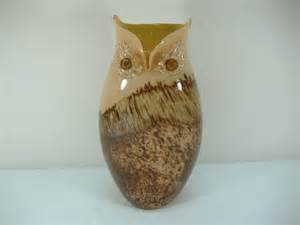 primrose murano collection owl vase lot 114