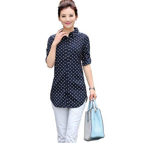 Kinara Jumbo Blouse By Rizky Fashion tops and blouses 2016 new fashion polka dots print sleeve large size xxxxl