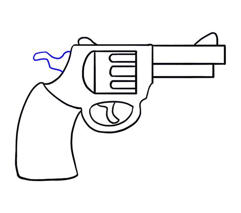how to draw doodle guns how to draw a revolver in a few easy steps easy