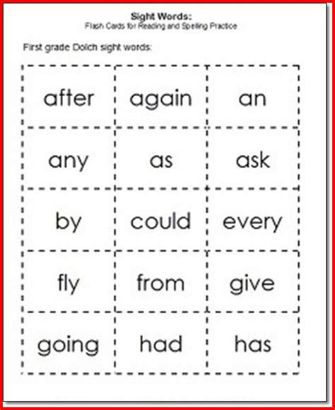 Project 1 Words by 1st Grade Spelling Words Worksheet Project Edu