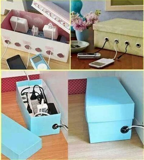 shoe box diy projects diy shoe box charging box organizer