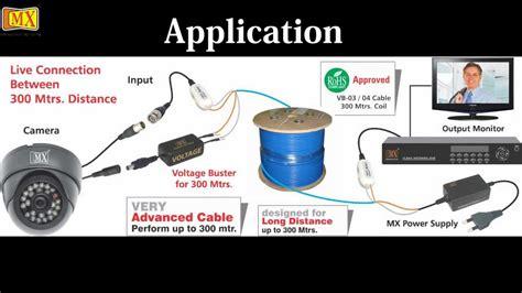 cctv camera video balun bnc plug  cat cable adapter