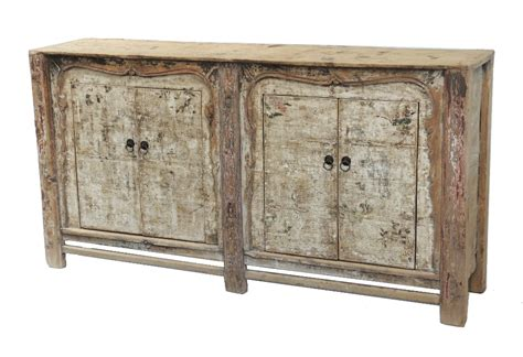 Antique Painted Sideboard Buffet Media Cabinet With Painted Buffet Cabinets