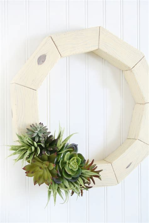 diy succulents diy faux wood succulent wreath