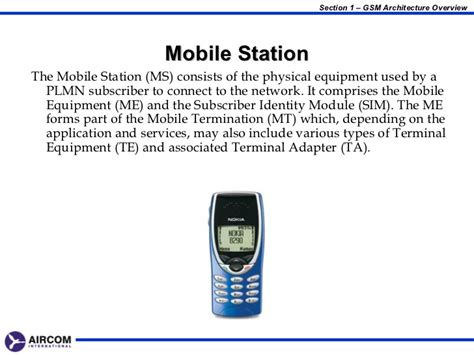 mobile station gsm architecture