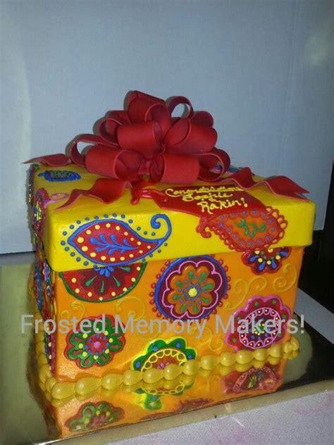 Box Kemasan Souvenir Motif Bunga Flowers Box Packaging Box Hpk018 paisley and floral motif gift box cake with bow frosted memory maker