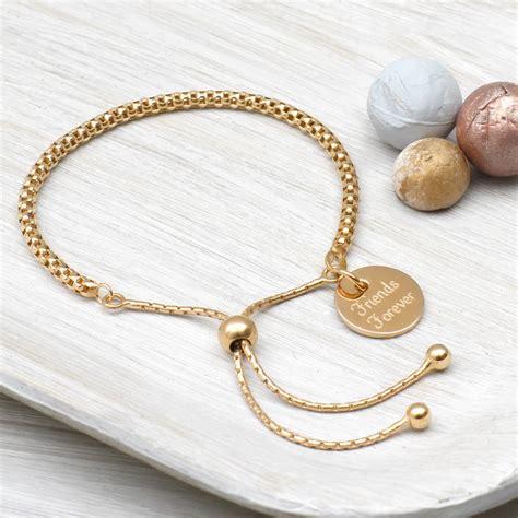 personalised gold charm friendship bracelet hurleyburley