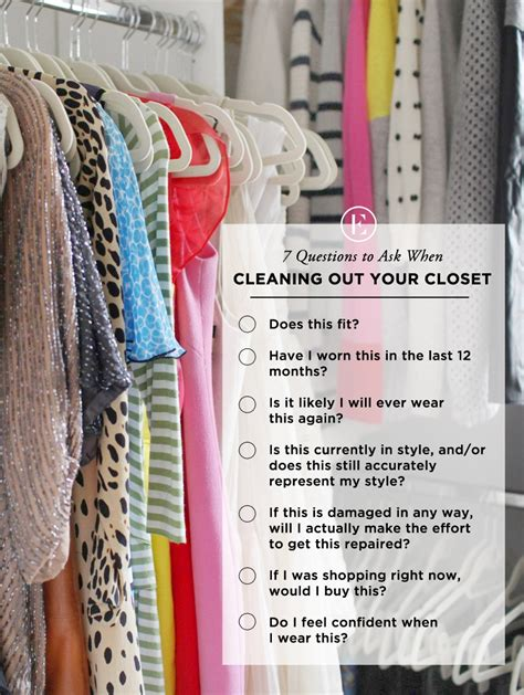 Clean Out Closet | 7 questions to ask when cleaning out your closet the