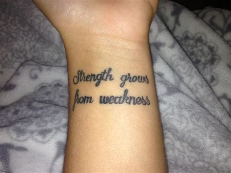 strength wrist tattoo 43 wonderful quote wrist tattoos
