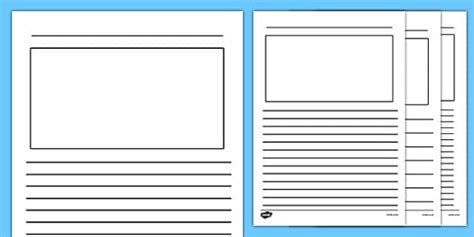 card writing template blank writing frames blank writing frames writing template