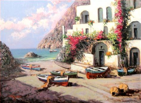 beach house paintings south italian beach house painting by pasquale esposito