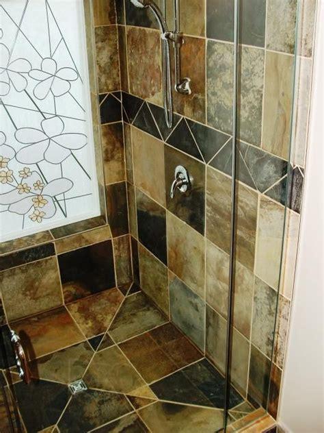 slate tile shower slate tile shower bathroom ideas