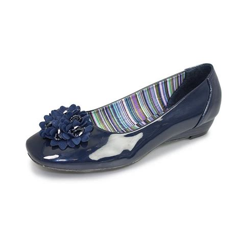 navy patent shoes flc620 navy patent wedge shoe