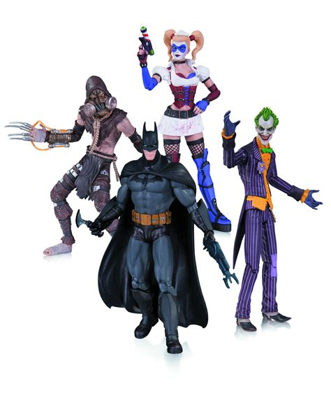 batman figure 4 pack batman arkham asylum figure 4 pack joker harley