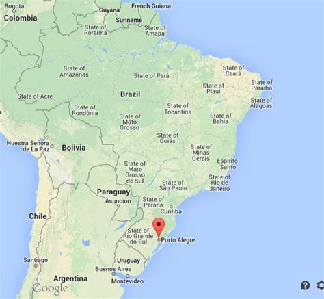 porto alegre brasile where is porto alegre map brazil