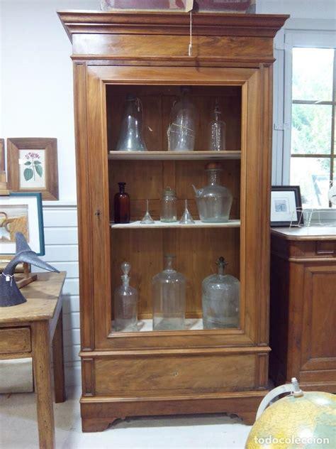 armario vitrina frances nogal comprar vitrinas antiguas en todocoleccion