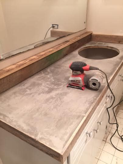 shiplap over concrete guest bathroom redo with shiplap concrete counter top