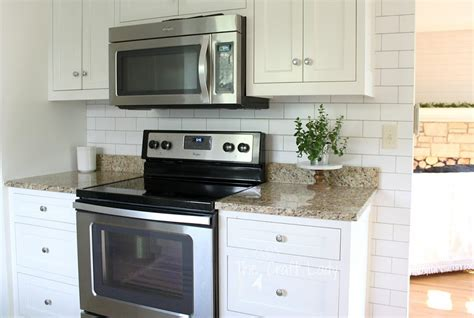 Temporary Kitchen Backsplash White Subway Tile Temporary Backsplash The Tutorial The Craft