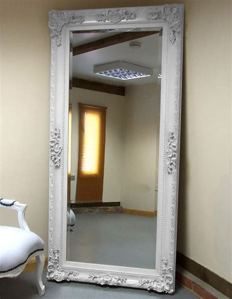 shabby chic length mirror white shabby chic antique length leaner floor