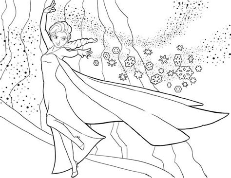 queen elsa printable coloring pages elsa the snow queen showing her magic coloring page free