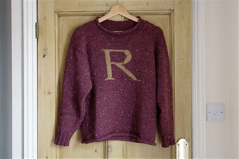 knitting pattern ron weasley jumper finished a weasley jumper ren 233 e and the cat s meow