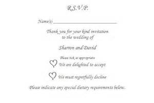 rsvp wedding invitation wording uk 10 x rsvp reply card personalised wedding christening to the the o jays and wedding
