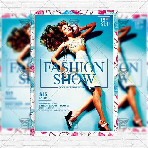 fashion show template fashion show flyer images
