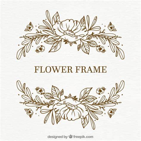 cornice floreale cornice floreale disegnata a mano semplice scaricare