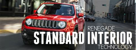 standard jeep interior standard convenience features for 2017 jeep renegade