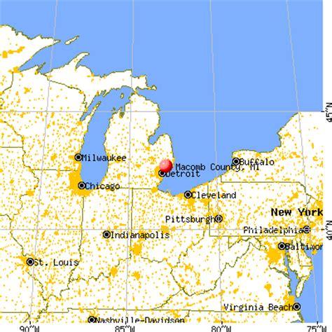 macomb michigan map michigan map