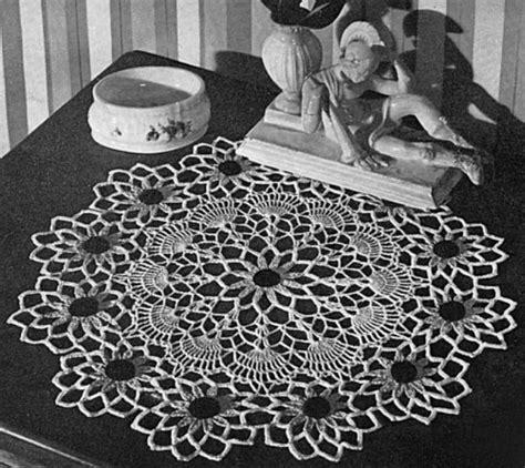 crochet pattern black eyed susan black eyed susan crochet doily pattern by toadhollowpresents