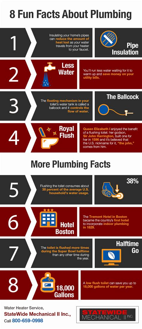 8 Facts About by 8 Facts About Plumbing Shared Info Graphics
