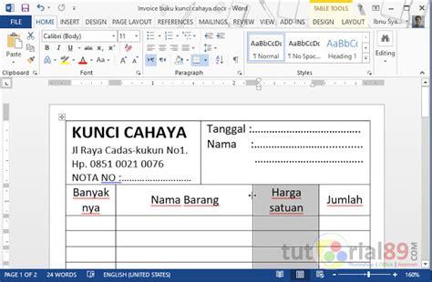 cara membuat kuesioner dengan microsoft word cara mudah membuat kwitansi di word sendiri video