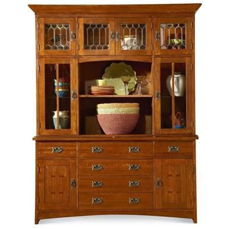 mastercraft collections prairie mission oak hutch