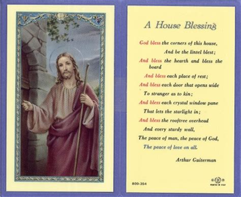 house of blessings house blessing holy card