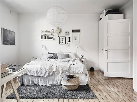 nordic style bedroom scandinavian interior apartment with mix of gray tones