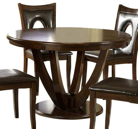 dining table houzz homelegance vanbure pedestal dining table in rich cherry traditional dining tables