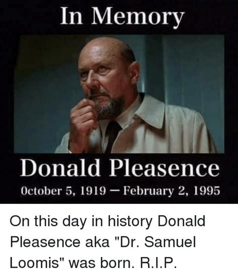 on this day in history in memorv donald pleasence october 5 1919 february 2 1995