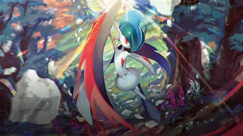 mega gallade pokemon hd wallpapers background images