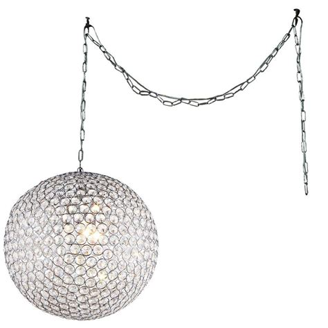 chrome crystal 4 light round ceiling chandelier swag crystal chandelier lighting lighting ideas